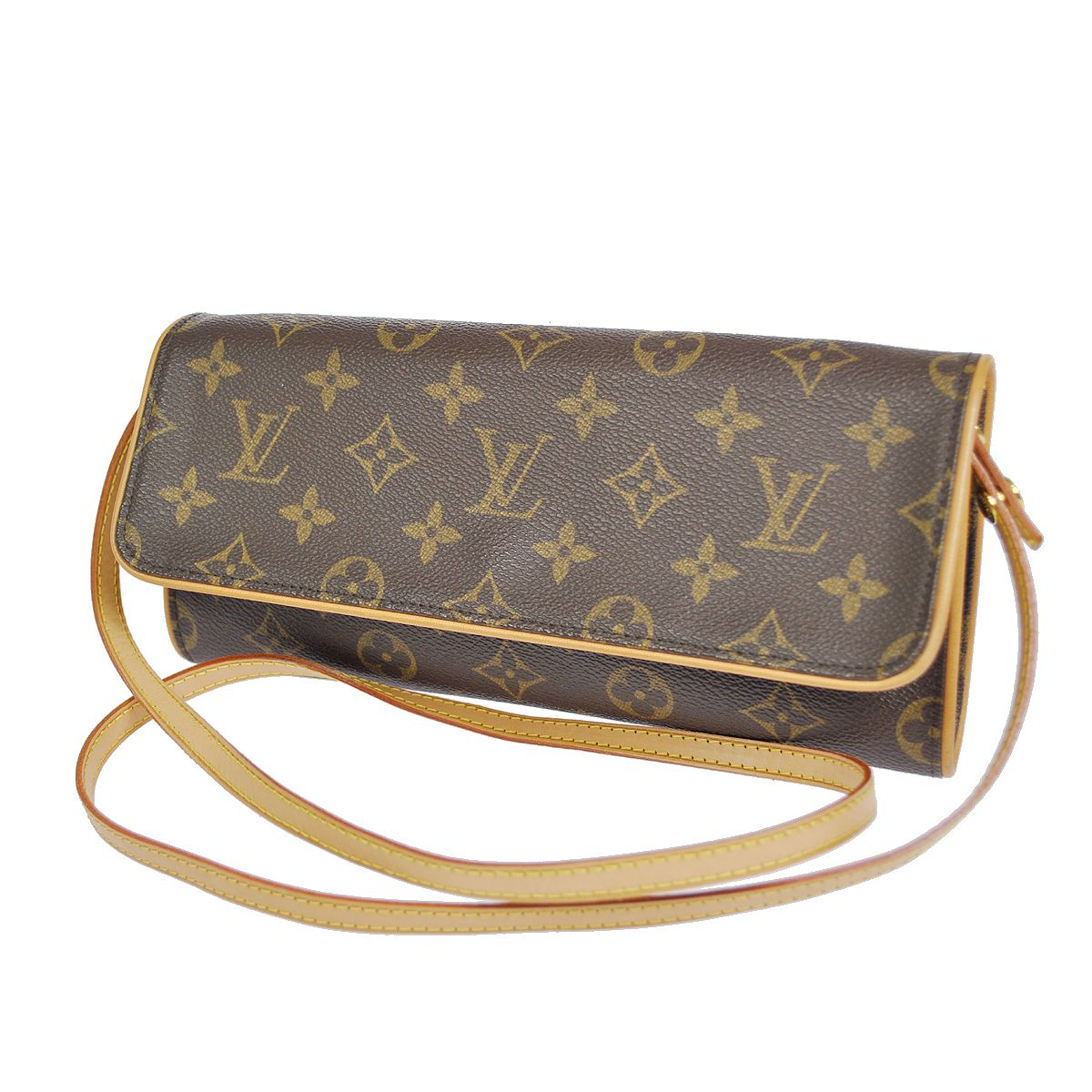 20cda295b8 SOLD - Authentic Louis Vuitton Monogram Canvas Twin Gm Clutch/Wallet Cross  Body Bag - My Frugal Fashionista