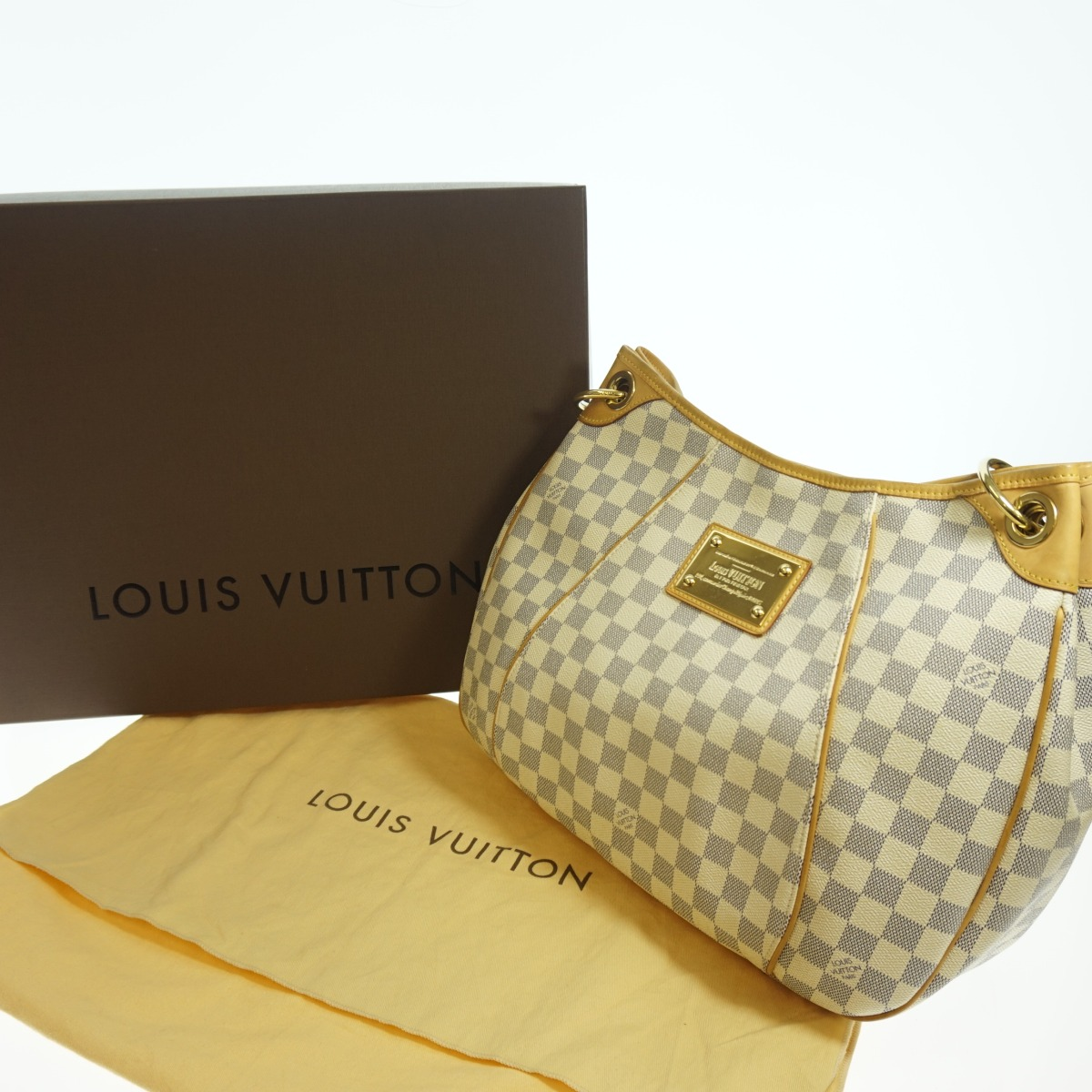 8273bf4bcd7aa Authentic Louis Vuitton Damier Azur Monogram Galliera Pm - My Frugal ...